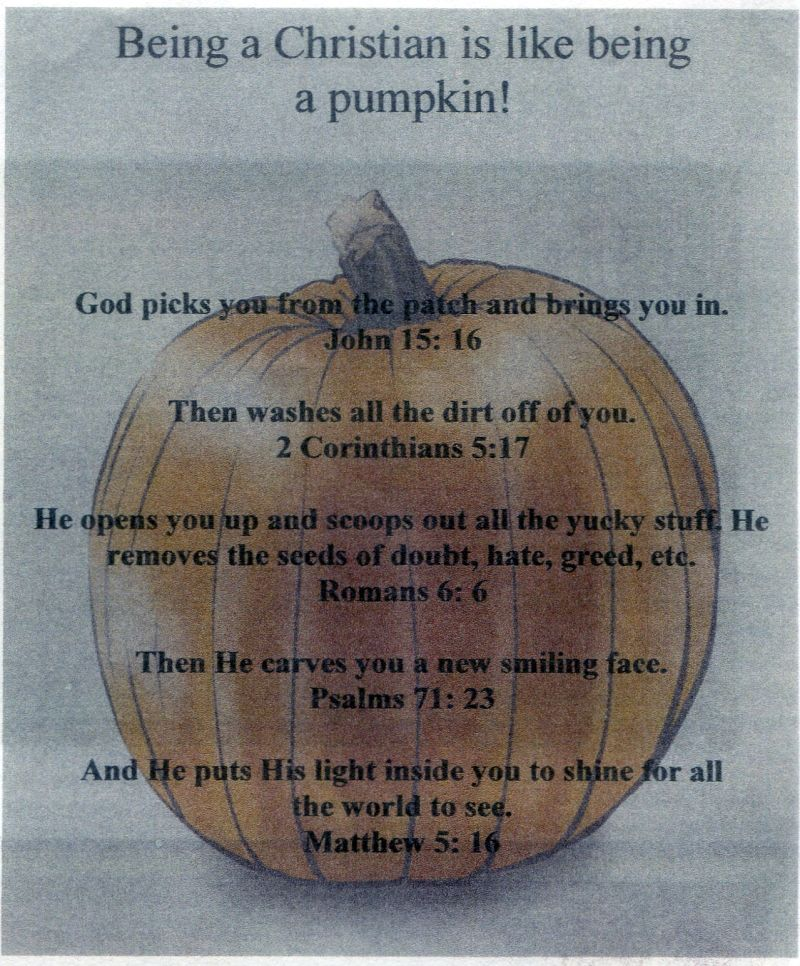 Being a Christian is like being a pumpkin!